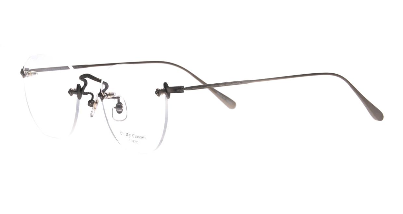 Oh My Glasses TOKYO omg-128 Otis-ATS-48 [メタル/鯖江産/縁なし/ウェリントン/シルバー]  1