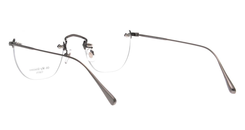 Oh My Glasses TOKYO omg-128 Otis-ATS-48 [メタル/鯖江産/縁なし/ウェリントン/シルバー]  3