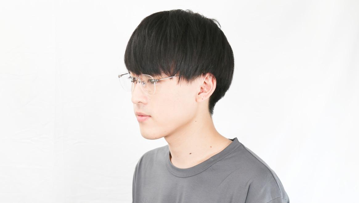 Oh My Glasses TOKYO Otis omg-128-ATS-48 [メタル/鯖江産/縁なし/ウェリントン/シルバー]  6