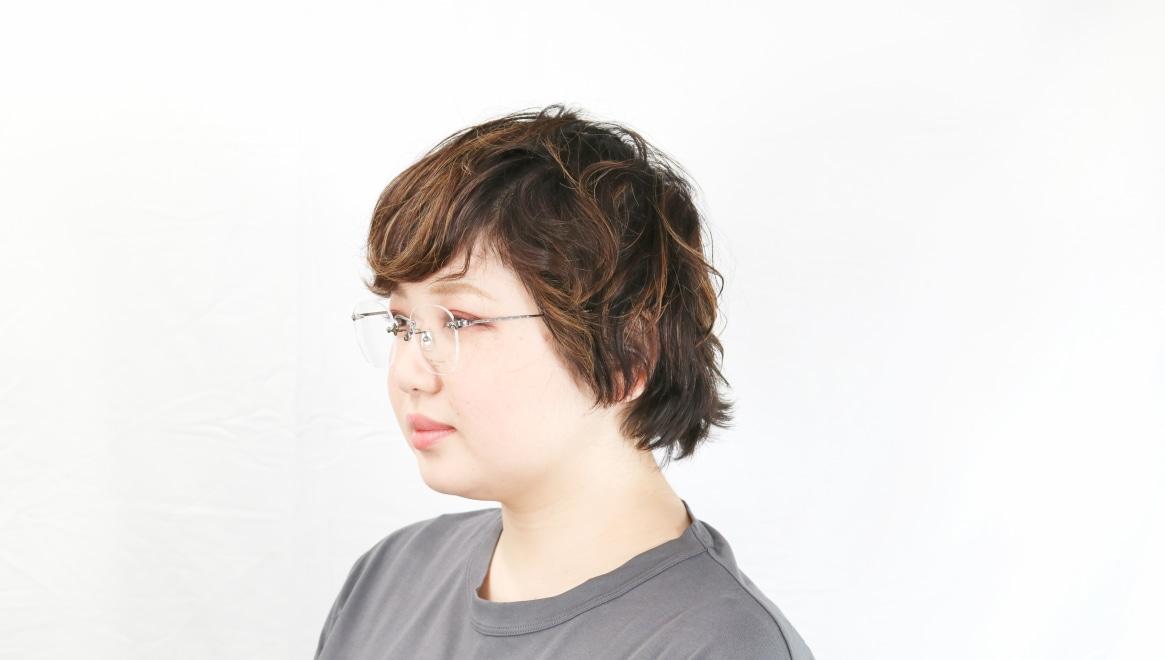 Oh My Glasses TOKYO Otis omg-128-ATS-48 [メタル/鯖江産/縁なし/ウェリントン/シルバー]  8
