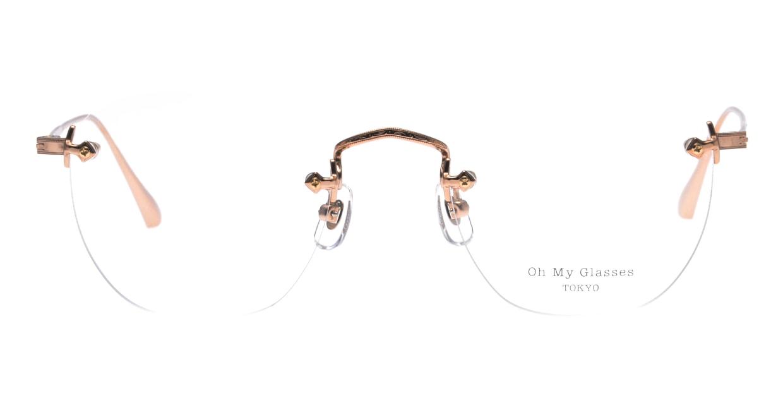 Oh My Glasses TOKYO Otis omg-128-RG-48 [メタル/鯖江産/縁なし/ウェリントン/ゴールド]