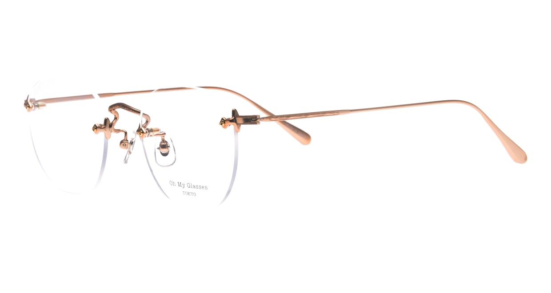 Oh My Glasses TOKYO Otis omg-128-RG-48 [メタル/鯖江産/縁なし/ウェリントン/ゴールド]  1