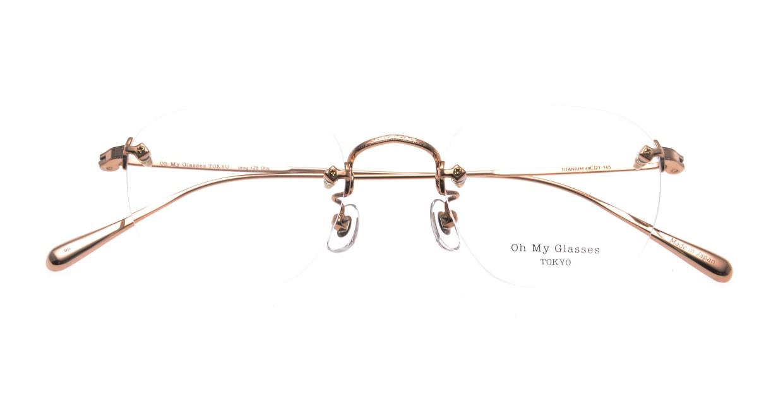 Oh My Glasses TOKYO Otis omg-128-RG-48 [メタル/鯖江産/縁なし/ウェリントン/ゴールド]  4