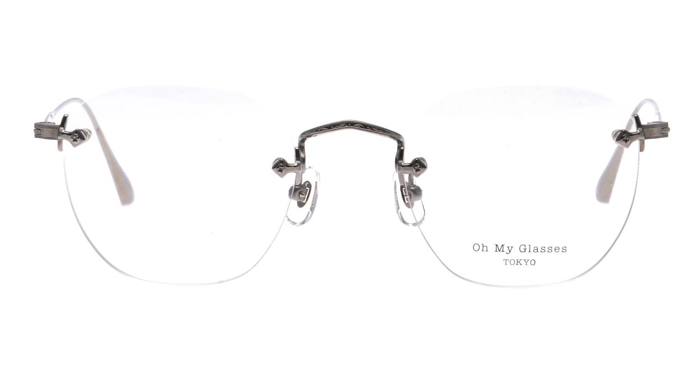Oh My Glasses TOKYO Otis omg-128-GRY-48 [メタル/鯖江産/縁なし/ウェリントン/シルバー]