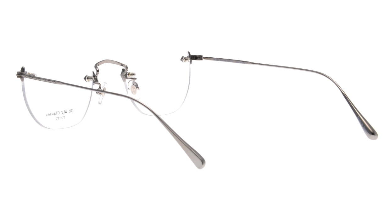 Oh My Glasses TOKYO Otis omg-128-GRY-48 [メタル/鯖江産/縁なし/ウェリントン/シルバー]  3