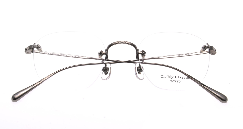 Oh My Glasses TOKYO Otis omg-128-GRY-48 [メタル/鯖江産/縁なし/ウェリントン/シルバー]  4