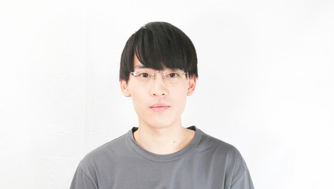 Oh My Glasses TOKYO Otis omg-128-GRY-48 [メタル/鯖江産/縁なし/ウェリントン/シルバー]  5
