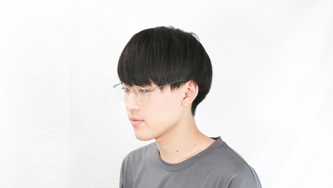 Oh My Glasses TOKYO Otis omg-128-GRY-48 [メタル/鯖江産/縁なし/ウェリントン/シルバー]  6