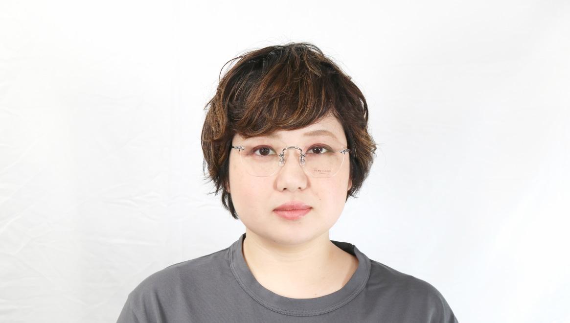 Oh My Glasses TOKYO Otis omg-128-GRY-48 [メタル/鯖江産/縁なし/ウェリントン/シルバー]  7