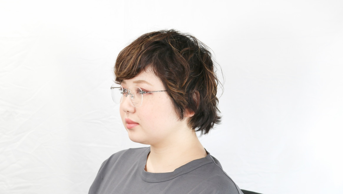 Oh My Glasses TOKYO Otis omg-128-GRY-48 [メタル/鯖江産/縁なし/ウェリントン/シルバー]  8