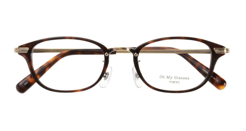 Oh My Glasses TOKYO Scott omg-091-20-12-49 [鯖江産/スクエア/べっ甲柄]  3