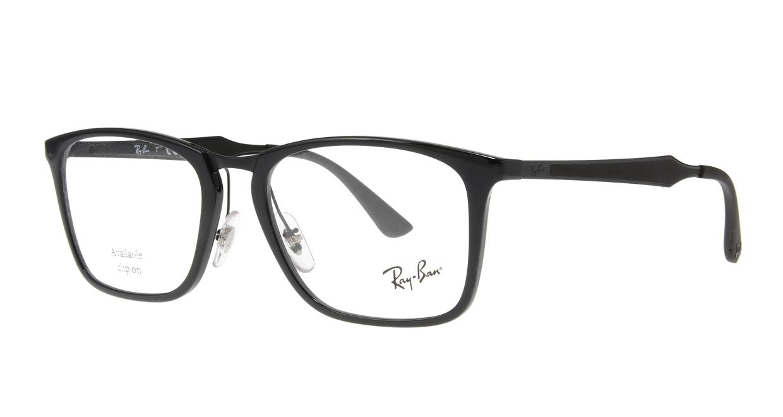 レイバン RX7131-2000-55 [黒縁/丸メガネ]  1
