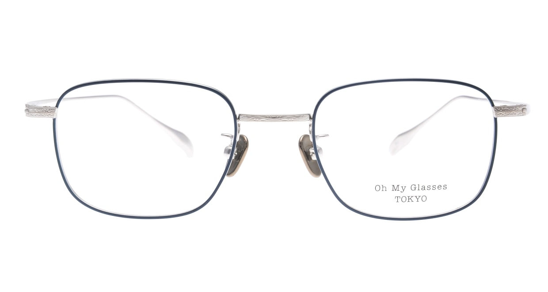 Oh My Glasses TOKYO Stanley omg-129-NV-48 [メタル/鯖江産/スクエア/青]