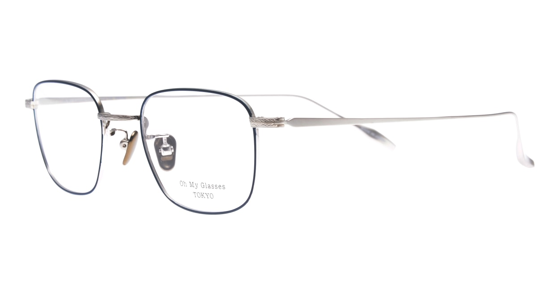 Oh My Glasses TOKYO Stanley omg-129-NV-48 [メタル/鯖江産/スクエア/青]  1
