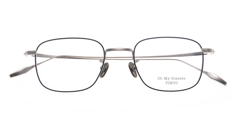 Oh My Glasses TOKYO Stanley omg-129-NV-48 [メタル/鯖江産/スクエア/青]  4