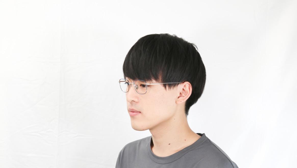 Oh My Glasses TOKYO Stanley omg-129-NV-48 [メタル/鯖江産/スクエア/青]  6