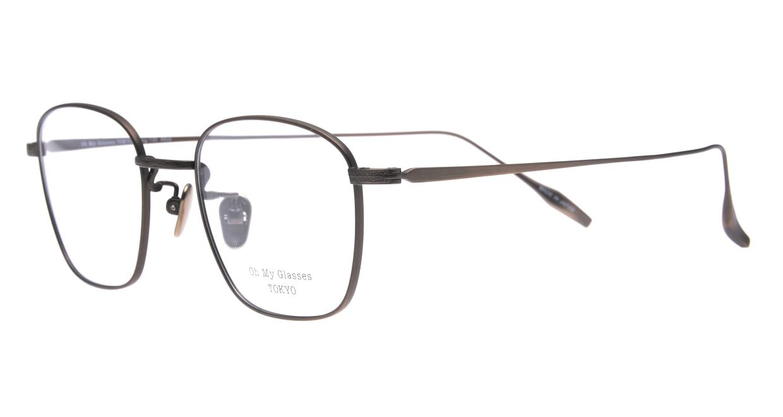 Oh My Glasses TOKYO Alice omg-130 -ATBR-49 [メタル/鯖江産/ウェリントン/ゴールド]  1