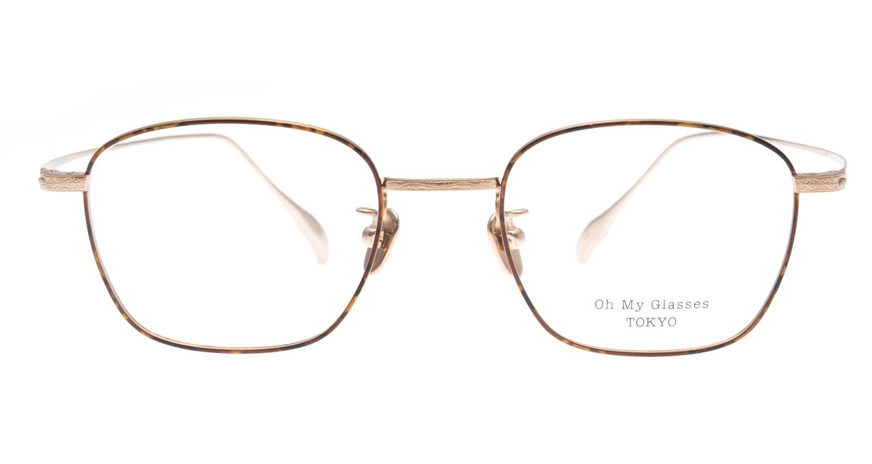 Oh My Glasses TOKYO Alice omg-130-DM-49 [メタル/鯖江産/ウェリントン/茶色]