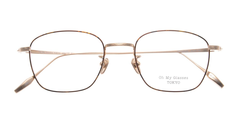 Oh My Glasses TOKYO Alice omg-130-DM-49 [メタル/鯖江産/ウェリントン/茶色]  4