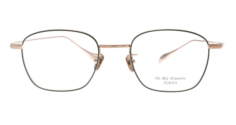 Oh My Glasses TOKYO Alice omg-130 -GR-49 [メタル/鯖江産/ウェリントン/緑]