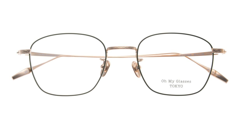 Oh My Glasses TOKYO Alice omg-130 -GR-49 [メタル/鯖江産/ウェリントン/緑]  4