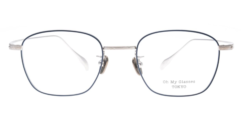 Oh My Glasses TOKYO Alice omg-130 -NV-49 [メタル/鯖江産/ウェリントン/青]