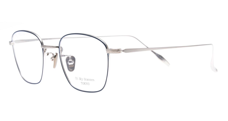 Oh My Glasses TOKYO Alice omg-130 -NV-49 [メタル/鯖江産/ウェリントン/青]  1