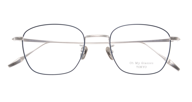 Oh My Glasses TOKYO Alice omg-130 -NV-49 [メタル/鯖江産/ウェリントン/青]  4
