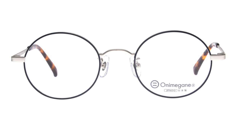 オニメガネ OG7212-BL-46 [メタル/鯖江産/丸メガネ]