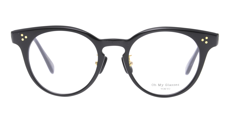 Oh My Glasses TOKYO Nancy omg-131-BK-50 [黒縁/鯖江産/丸メガネ]