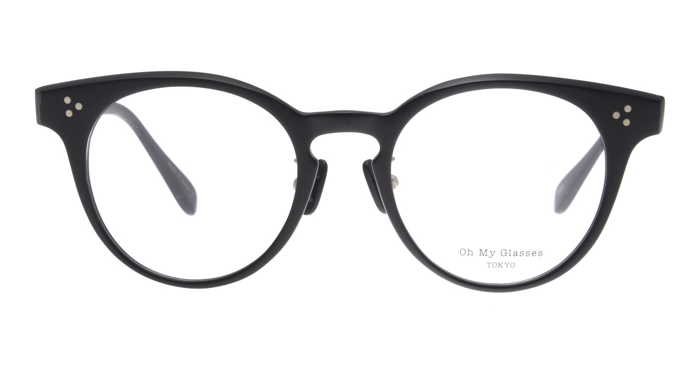 Oh My Glasses TOKYO Nancy omg-131-MBK-50 [黒縁/鯖江産/丸メガネ]