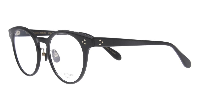 Oh My Glasses TOKYO Nancy omg-131-MBK-50 [黒縁/鯖江産/丸メガネ]  1