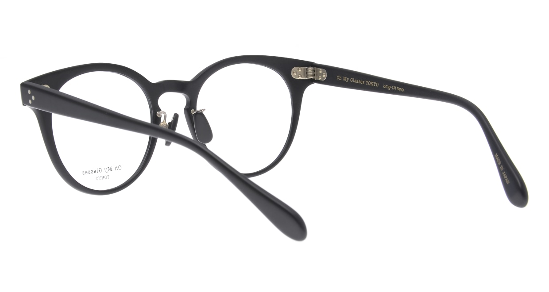 Oh My Glasses TOKYO Nancy omg-131-MBK-50 [黒縁/鯖江産/丸メガネ]  3