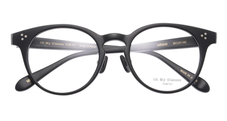 Oh My Glasses TOKYO Nancy omg-131-MBK-50 [黒縁/鯖江産/丸メガネ]  4