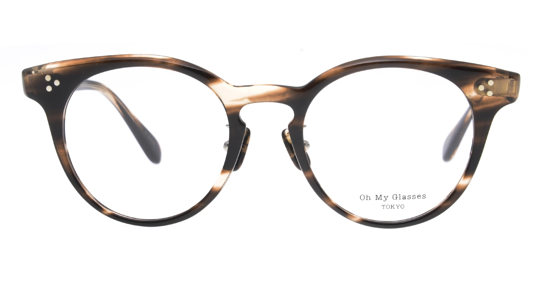 Oh My Glasses TOKYO Nancy omg-131-BRS-50 [鯖江産/丸メガネ/茶色]