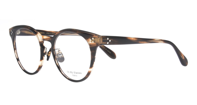 Oh My Glasses TOKYO Nancy omg-131-BRS-50 [鯖江産/丸メガネ/茶色]  1