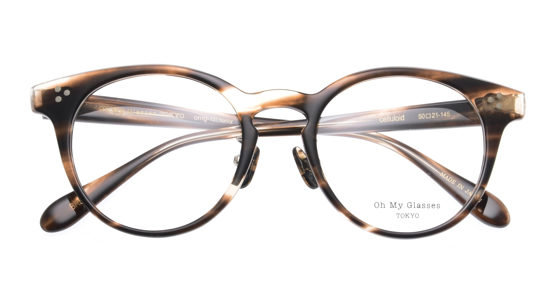 Oh My Glasses TOKYO Nancy omg-131-BRS-50 [鯖江産/丸メガネ/茶色]  4