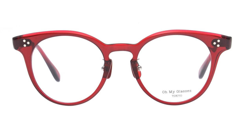 Oh My Glasses TOKYO Nancy omg-131-BDX-50 [鯖江産/丸メガネ/赤]