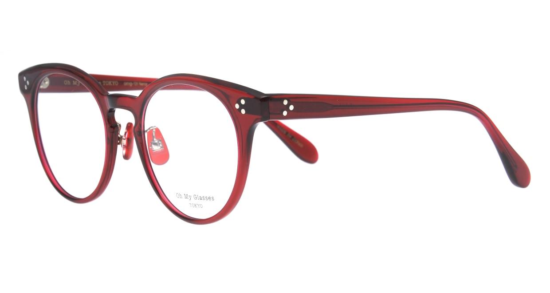 Oh My Glasses TOKYO Nancy omg-131-BDX-50 [鯖江産/丸メガネ/赤]  1