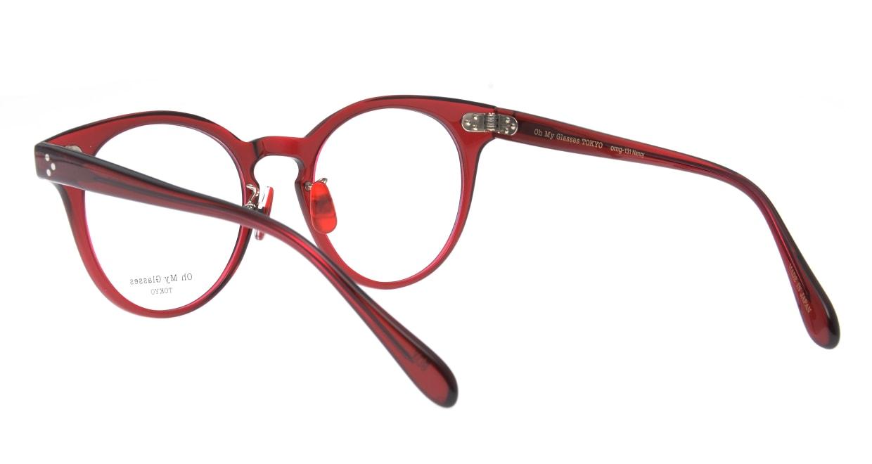 Oh My Glasses TOKYO Nancy omg-131-BDX-50 [鯖江産/丸メガネ/赤]  3