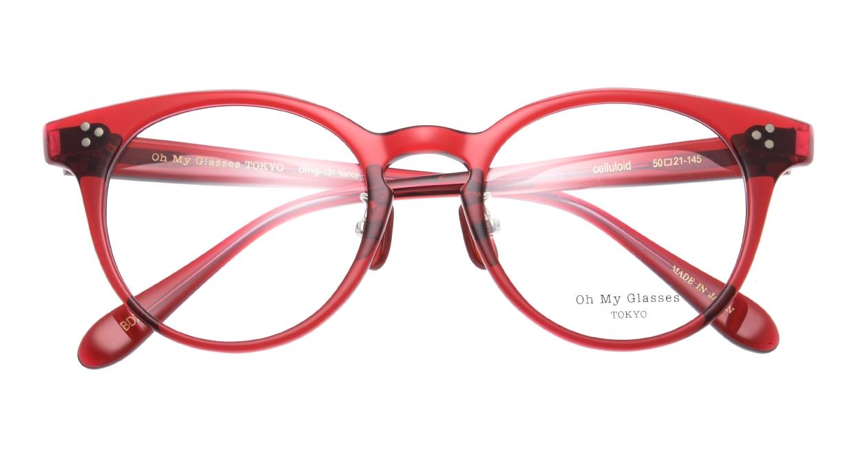 Oh My Glasses TOKYO Nancy omg-131-BDX-50 [鯖江産/丸メガネ/赤]  4