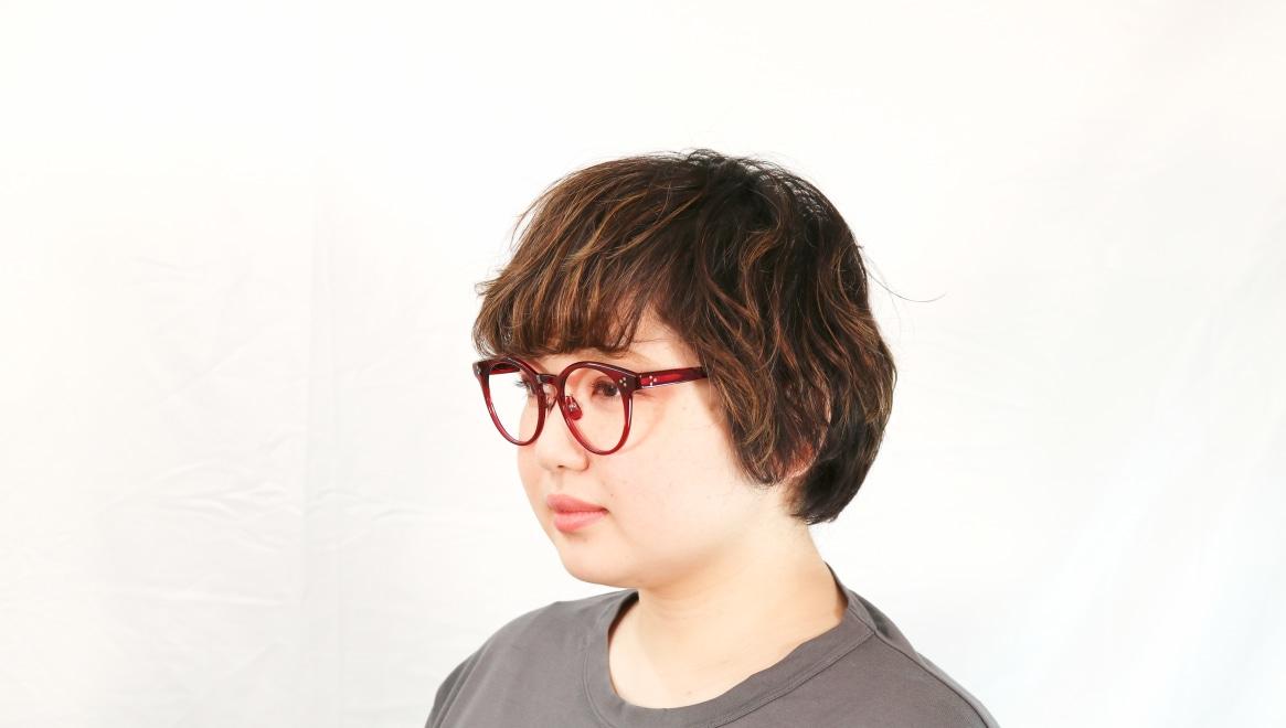 Oh My Glasses TOKYO Nancy omg-131-BDX-50 [鯖江産/丸メガネ/赤]  8