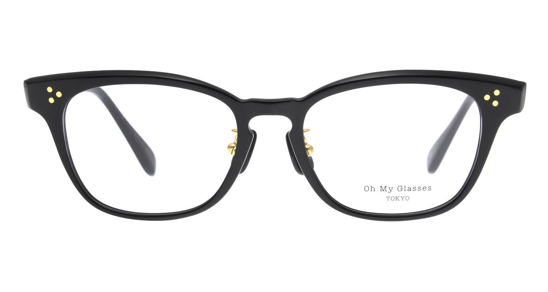 Oh My Glasses TOKYO Andrew omg-132-BK-51 [黒縁/鯖江産/ウェリントン]