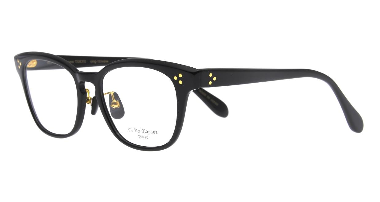 Oh My Glasses TOKYO Andrew omg-132-BK-51 [黒縁/鯖江産/ウェリントン]  1