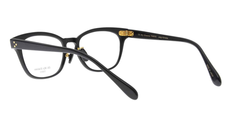 Oh My Glasses TOKYO Andrew omg-132-BK-51 [黒縁/鯖江産/ウェリントン]  3