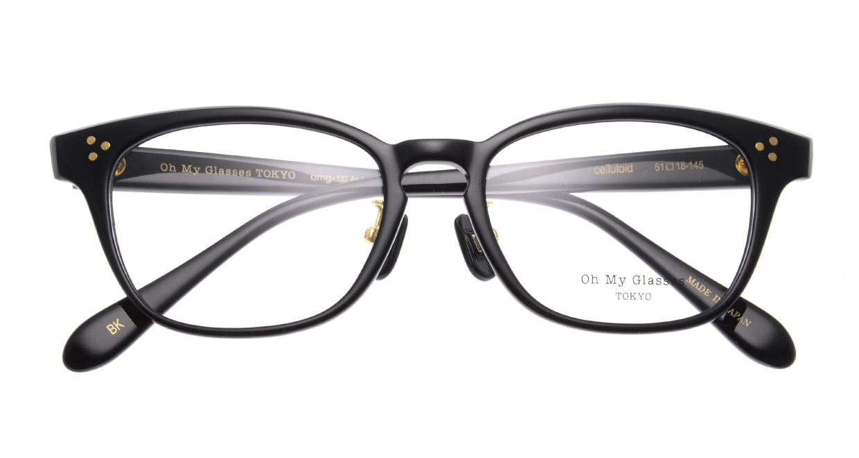 Oh My Glasses TOKYO Andrew omg-132-BK-51 [黒縁/鯖江産/ウェリントン]  4