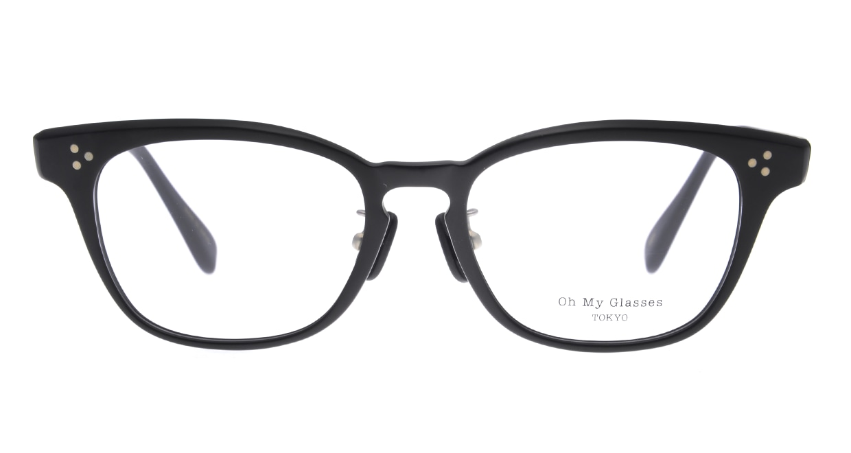 Oh My Glasses TOKYO Andrew omg-132-MBK-51 [黒縁/鯖江産/ウェリントン]