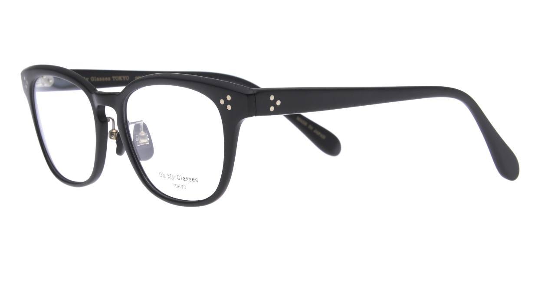 Oh My Glasses TOKYO Andrew omg-132-MBK-51 [黒縁/鯖江産/ウェリントン]  1
