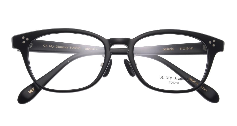 Oh My Glasses TOKYO Andrew omg-132-MBK-51 [黒縁/鯖江産/ウェリントン]  4