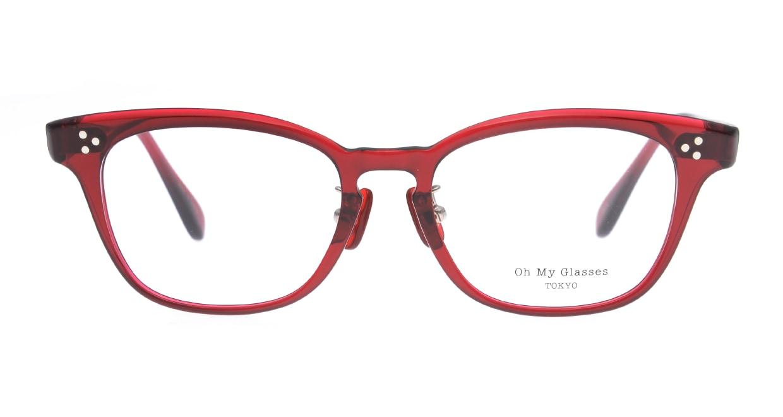 Oh My Glasses TOKYO Andrew omg-132-BDX-51 [鯖江産/ウェリントン/赤]